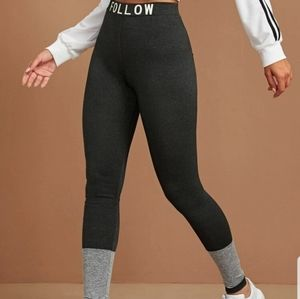NEW GRAPHIC WAIST COLORBLOCK LEGGINGS